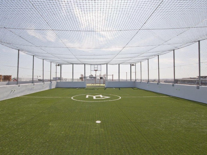 Rooftop 5-a-side soccer pitch